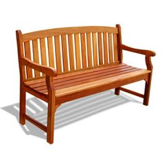 Stylish Baltic bench is made out of non-endangered Mahogany Shorea hardwood from Overstock.com  Sturdy furniture set is sure to enhance your patio decor  Five-foot bench is extremely durable for outdoor/indoor use