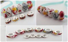 '10 Pc Set Potpurri Murano Bead and Rihinestone Mix' is going up for auction at 12pm Sun, Jan 27 with a starting bid of $5.