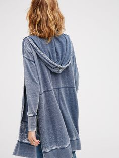 Davis Cardi | Super comfy hooded cardigan featuring so-soft brushed cotton fabrication with washed finish. Front button closure and deep side vents make for an easy, effortless fit. Hip pockets.