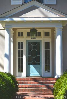 Front door with style, exterior entryway, nice colors, blue door, Beautiful Homes of Charlotte, NC