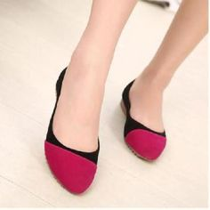 Spring and simiple style female mixed colors flat shoes