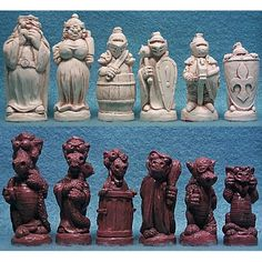 Theme Chess Pieces: George and Dragon Crushed Stone pieces