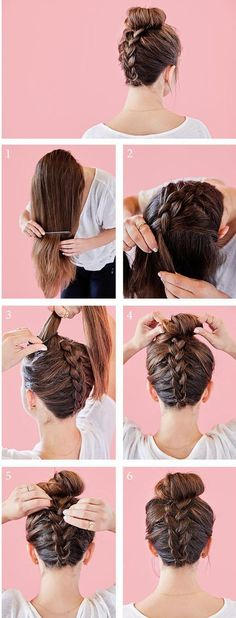 Make a bowknot with your hair. beautiful and easy hair style. Sunny Hair human hair extensions brown and blonde balayage color hair. www.g-sunny.com