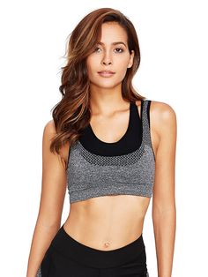 f222c4d4f0 Women Racerback Sports Bras High Impact Support Wirefree Workout Bra Top -  Grey - C91807RXCG4