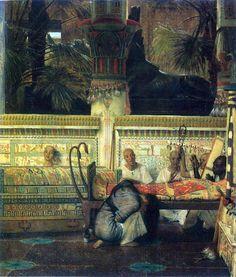 Sir Lawrence Alma-Tadema (l836 - 1912) | Thee Egyptian widow