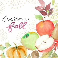 Wishing you a vibrant and inspiring first full autumn weekend. Welcome, Fall! 🍁 #welcomefall #happyfall #fall #harvest #watercolor #watercolorpainting #painting #watercolorart #handlettering #handlettered #goodtype #art #artist #artistsoninstagram #inspiration