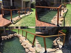 Greetings from Designer Decks! This is Meranti cable style balustrade, it was completed yesterday in Dainfern Estate. Timber Deck, Deck Design, Timeline, Decks, Cable, Cabo, Cover Design, Deck, Cords