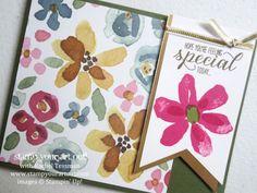 Demonstrator Appreciation cards made with English Garden designer series paper and Garden In Bloom stamp set…#stampyourartout #stampinup - Stampin' Up!® - Stamp Your Art Out! www.stampyourartout.com