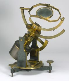 Heliostat by Jules Duboscq. Brass astronomical heliostat with clockwork drive on adjustable stand. A heliostat is used to direct sunlight into a room or into an instrument. The mirror is rotated by clockwork to track the sun as it appears to move across the sky.