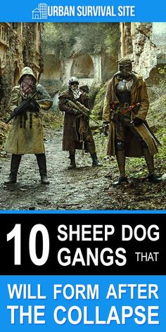 10 Sheep Dog Gangs That Will Form After The Collapse We hear about gangs of looters ransacking neighborhoods, but we don't hear about gangs of good guys keeping the peace. That's what a sheep dog gang is. Survival Shelter, Tactical Survival, Wilderness Survival, Camping Survival, Outdoor Survival, Survival Prepping, Survival Skills, Tactical Gear, Survival Fishing