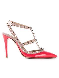fc2b0ac46a0b Valentino Rockstud Leather Kitten Heel Pumps