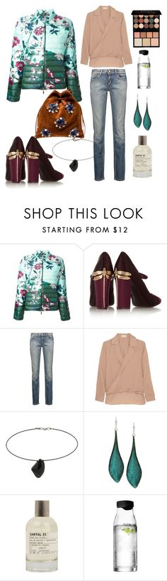 """""""Secret Garden"""" by spectrearcane ❤ liked on Polyvore featuring Moncler, Miu Miu, Tory Burch, Just Cavalli, L'Agence, Topshop, Robert Lee Morris, Le Labo, Menu and NYX"""