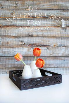 DIY Wallpaper Lined Tray