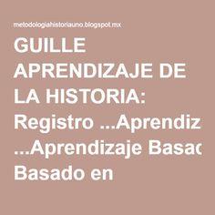 GUILLE APRENDIZAJE DE LA HISTORIA: Registro ...Aprendizaje Basado en Problemas