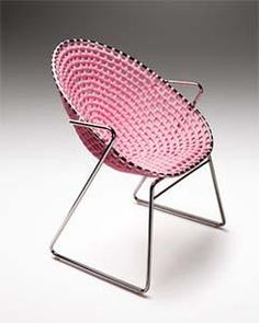 Zulu Mama Chair : | recycled plastic weaved seating and recycled steel frame |  #upcycle #fairtrade