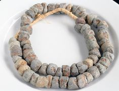 70 Mali Stone Beads - Coarse - Antique African Stone Beads - Jewelry Making Supplies - Made in Mali