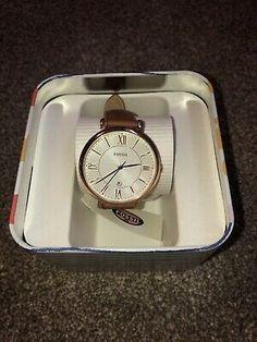 Ladies Jacqueline Leather Fossil Watch BNIB | eBay Watch Display, Fossil, Watches, Lady, Leather, Wristwatches, Clocks, Fossils