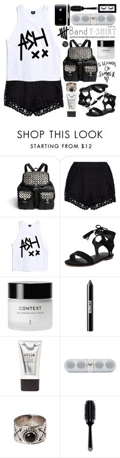 """""""I'm With the Band"""" by palmtreesandpompoms ❤ liked on Polyvore featuring Rebecca Minkoff, New Look, Windsor Smith, Ardency Inn, Stila, Beats by Dr. Dre, GHD, Inglot, amazon and bandtshirt"""