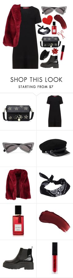 """Bordel"" by mode-222 ❤ liked on Polyvore featuring Marina Rinaldi, Yves Saint Laurent, Boohoo, ASOS, Diana Vreeland Parfums, lilah b. and Jeffrey Campbell"