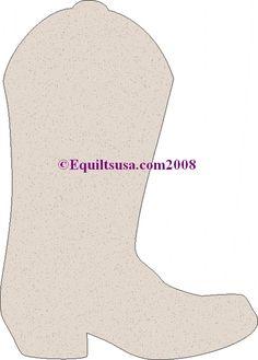 Cowboy Boot Template Equiltsusa.com