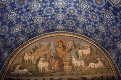 Mausoleum of Galla Placidia, Ravenna  Mosaic of the Good Shepherd