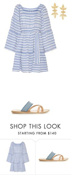 """Untitled 190#"" by haruhikurosaki-demon ❤ liked on Polyvore featuring Lisa Marie Fernandez, Ancient Greek Sandals and Gas Bijoux"