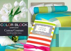 Color Block Queen Duvet Cover   Sew4Home