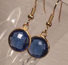 Blue quartz earrings by IrkaDesign on Etsy