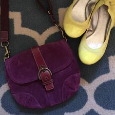 Coach cross body purse Deep purple cross body is the perfect size! It holds all your necessities without being too bulky. Lays flat against the body. Great condition! Coach Bags Crossbody Bags