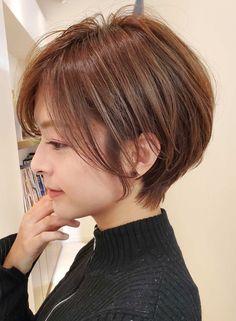 Asian Short Hair, Short Hair Cuts, Short Hair Styles, Haircuts For Fine Hair, Short Hairstyles For Women, Smooth Hair, Pixie Haircut, Hair Dos, Hair Lengths