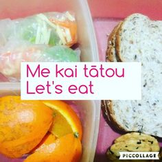 Me kai tātou Let's eat. This is my tama's lunch he made for school; when he has his kai it is with a group so I think the visual and kupu work! Teaching Materials, Birthday Party Themes, Languages, Lunch, Culture, Group, Eat, School, Ethnic Recipes