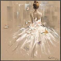Discover recipes, home ideas, style inspiration and other ideas to try. Art Ballet, Ballerina Painting, Ballerina Art, Ballerina Sketch, Dress Painting, Colorful Drawings, Art Drawings, Dance Paintings, Dance Art