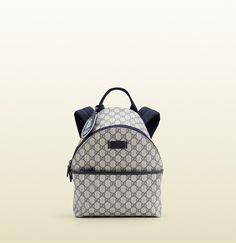 e137508155d9 GG supreme fabric kid's backpack Kids Backpacks, Backpack Bags, Fashion  Backpack, Modern Luxury