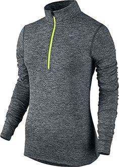 Nike Men's Dri-fit Element Zip Running Shirt In Black/heather Running Shirts, Nike Running, Sport, Nike Men, Zip, Fitness, Jackets, Clothes, Shopping