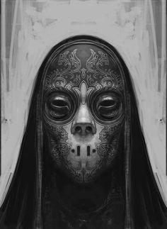 Harry Potter Concept Art: Death Eaters by Rob Bliss Harry Potter Death, Harry Potter Cosplay, Death Eater Mask, Demon Manga, Illustration Fantasy, Character Illustration, Dark Mask, Dark Spirit, Arte Cyberpunk