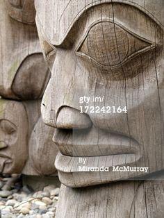 """First Nations totem in Vancouver, BC area, up close. Native Art, Native American Art, Cherokees, Tiki Totem, Pole Art, Haida Art, Inuit Art, Tlingit, Indigenous Art"