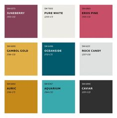 Colour Trends for 2020 - - What colours will we be seeing next year? See Sherwin Williams predicted colour trends for Plus sneak peek at the moodboard for S/Y Lazy Kingfisher. Trending Paint Colors, Paint Colors For Home, House Colors, Wall Paint Colours, Turquoise Wall Colors, Bright Paint Colors, Color Walls, Teal Paint, Bold Colors