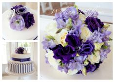 Beautiful purple & mauve blooms for this wedding, designed by Tiffany's flowers