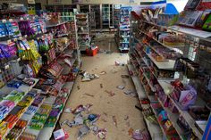 Poisoned: An abandoned basket of shopping can be seen in a grocery store in Futaba and packets of sweets litter the floor after the quake struck Apocalypse Aesthetic, Survival, Movies And Series, Between Two Worlds, Character Aesthetic, Book Aesthetic, Life Is Strange, Story Inspiration, Story Ideas