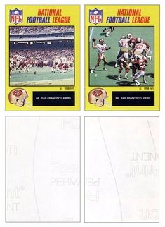 Joe Montana 1988 Monty Gum Stickers 68 & 69 (Blank Back)
