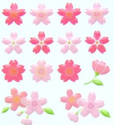 Beautiful  Cherry Blossom Stickers Sakura  by FromJapanWithLove, $5.75