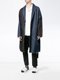 Shop sulvam oversized denim overcoat from our Single Breasted Coats collection. Denim Oversize, Parka, Single Breasted, Duster Coat, Normcore, Brown, Jackets, Men, Shopping