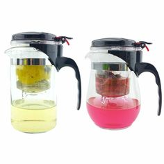 500ml Style A or B Heat Resistant Glass Teapot Chinese Tea Set Puer Kettle Coffee Glass Maker Convenient Office Tea Pot 1pcs