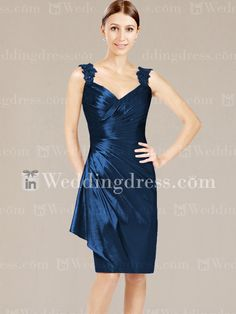 My Hot Dress - - Knee Length Mother of the Bride Dress_Indigo