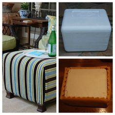 From Imparting Grace: Make an ottoman from a styrofoam cooler