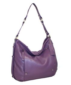 Love this Grape Holly Leather Hobo by Nino Bossi Handbags on #zulily! #zulilyfinds