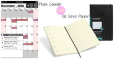 iPhone calander VS. Old School Planner