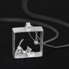 925 Sterling Silver Curious Cat Necklace