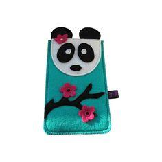 Panda is een schattig tasje voor je mobiele telefoon, smartphone, iPod (Classic) of iPhone. Dit tasje is gemaakt van een zeer goede kwaliteit wolvilt
