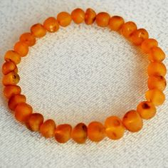 RAW Amber bracelet for adults Adult Baltic by BalticAmberCity